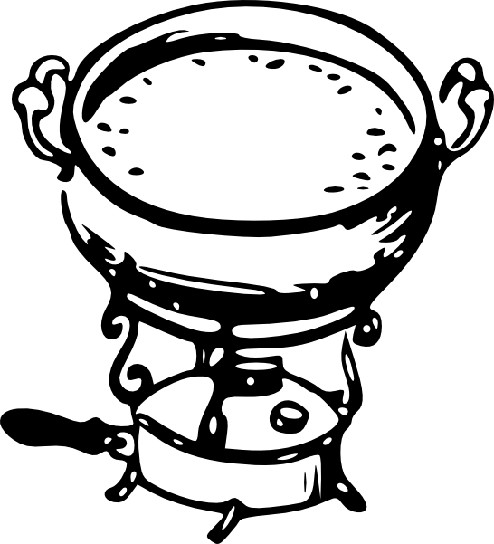 Soup clipart soup cauldron. Tom fondue clip art