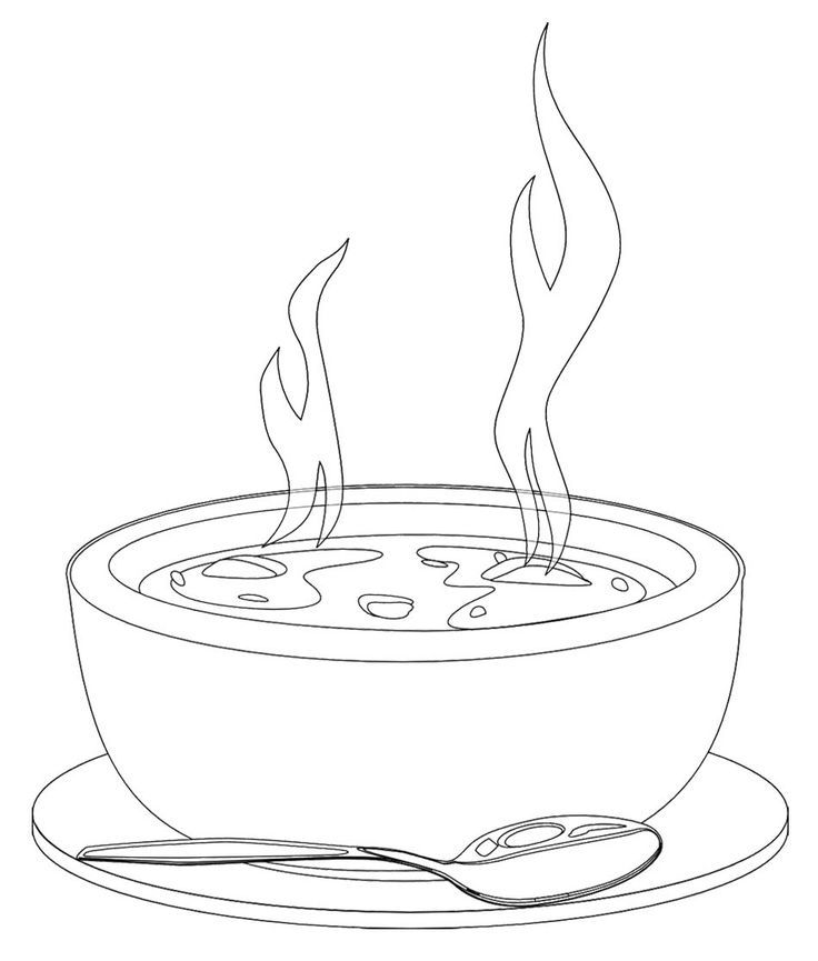 Soup clipart soup cracker. Black and white crackers
