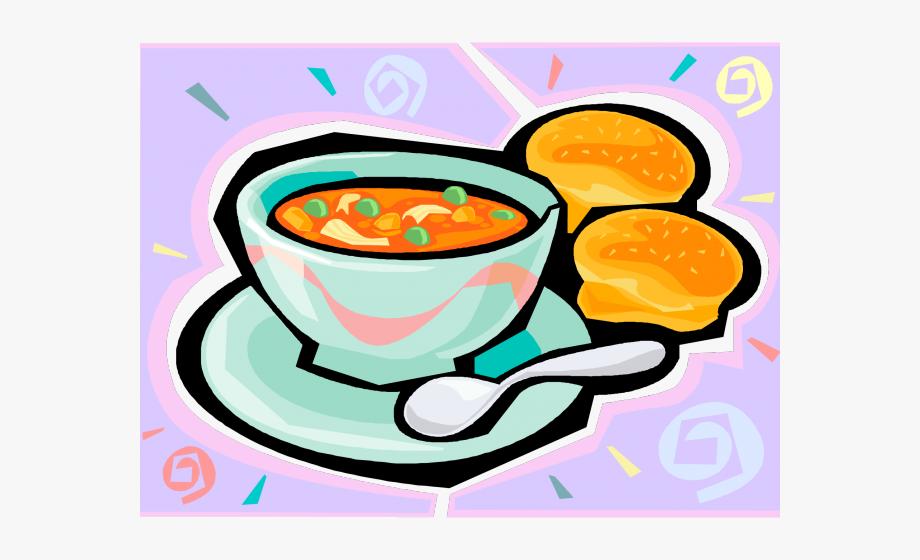 Lent and bun cliparts. Soup clipart soup lunch