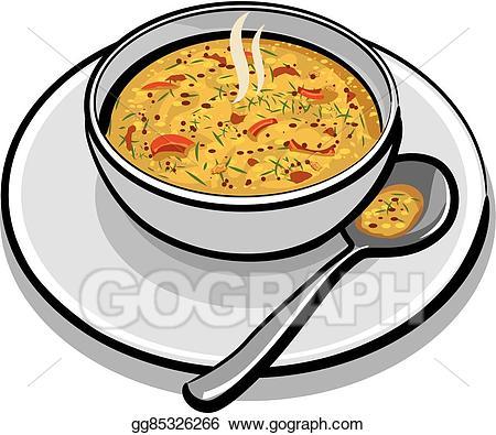 Soup clipart vegetable soup. Vector stock hot illustration