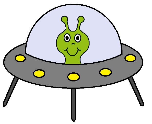 Alien spaceship . Flu clipart clip art