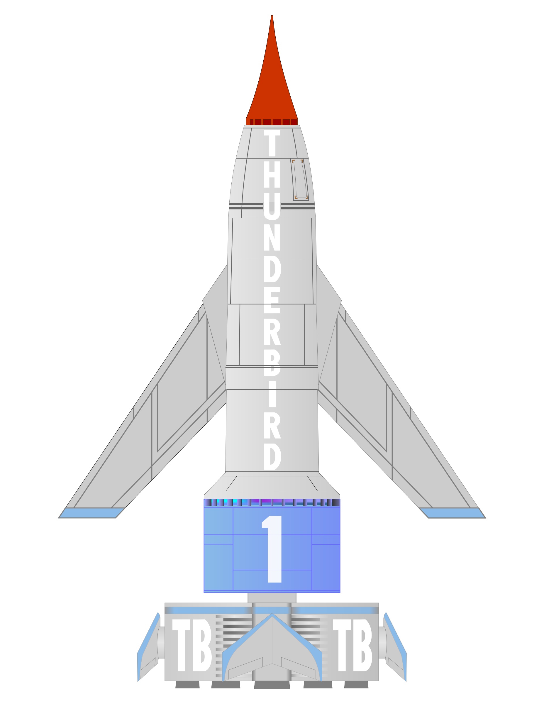 Thunderbird big image png. Spaceship clipart aerospace engineering