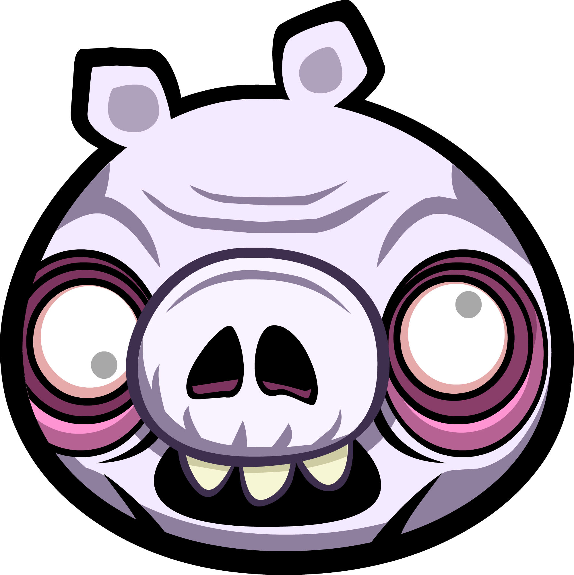 Spaceship clipart angry birds star wars. Image zombie pig png