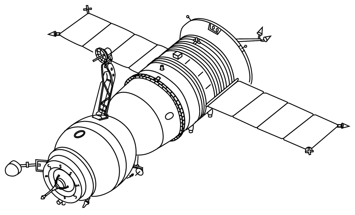 Spaceship clipart apollo spacecraft. Soyuz t wikipedia