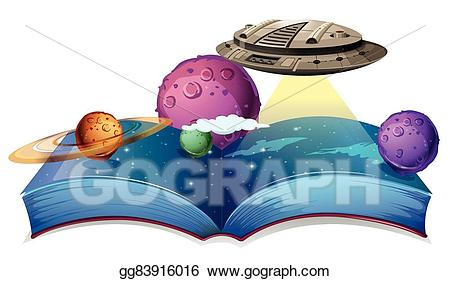 Eps illustration book of. Spaceship clipart astronomy
