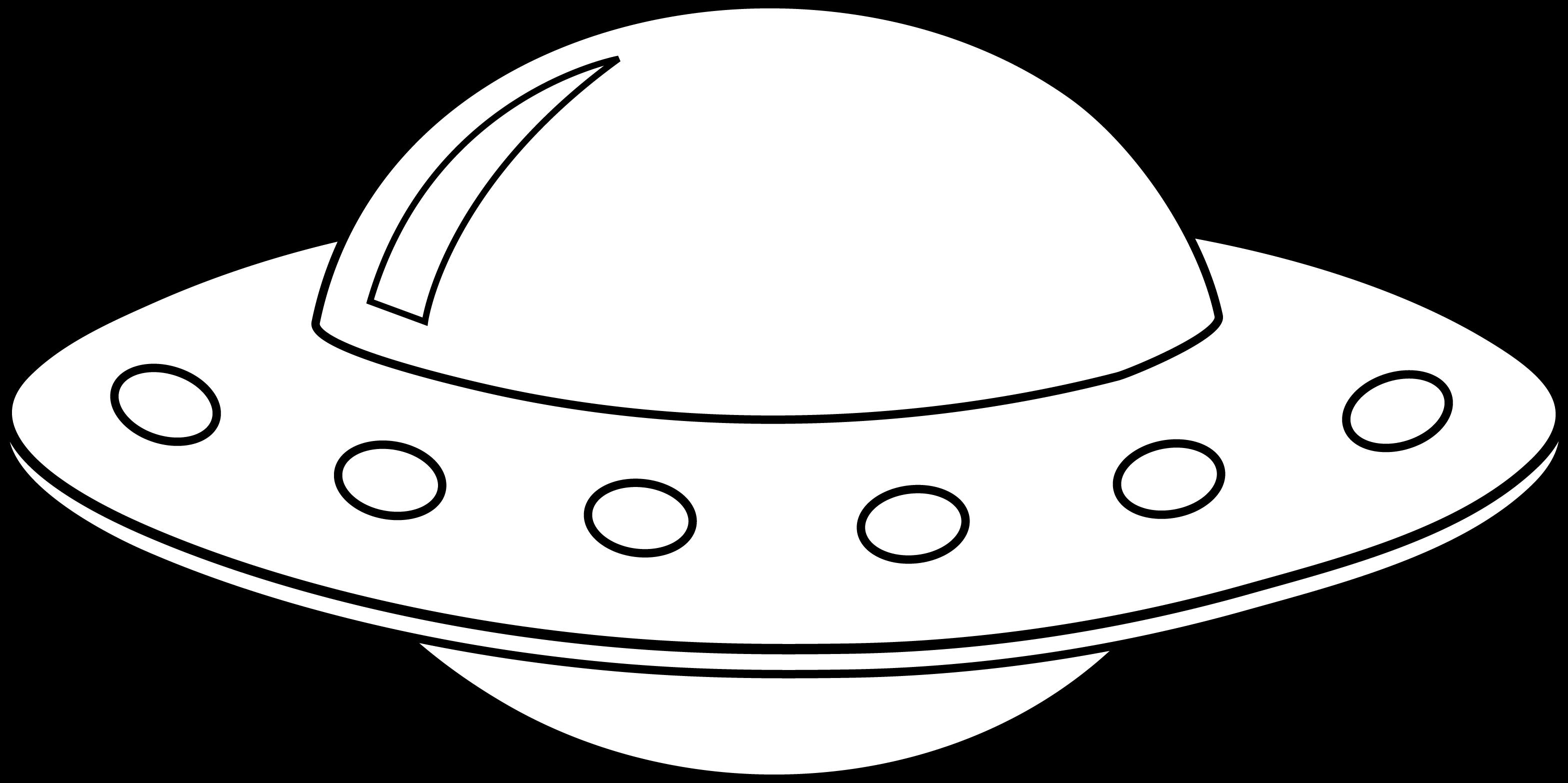 Spaceship Outline Clipart - ClipartBlack.com