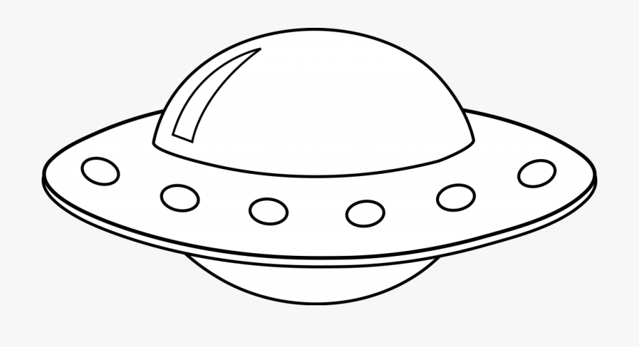 Spaceship black and white. Ufo clipart high resolution