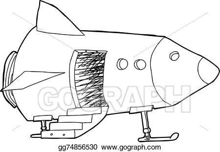 Spaceship clipart door. Vector stock open in