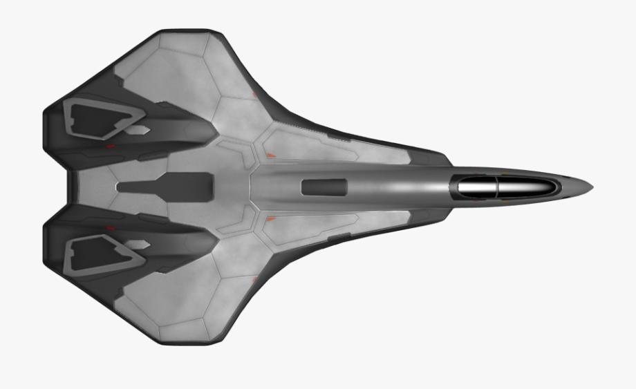 Spaceship clipart fighter. Birds eye view