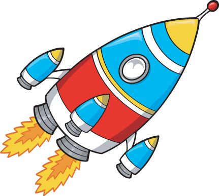 Spaceship clipart giant. Cartoon style rocket vector