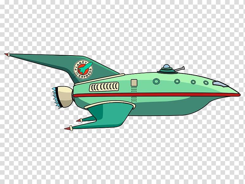 Airplane aircraft flight cartoon. Spaceship clipart green