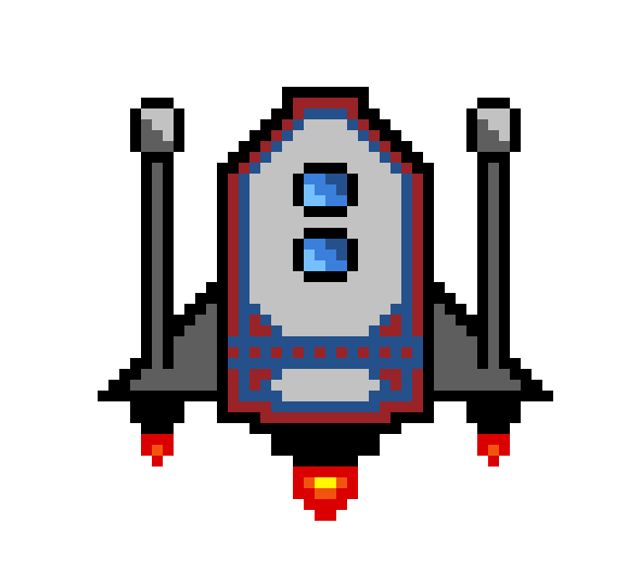 Art maker. Spaceship clipart pixel