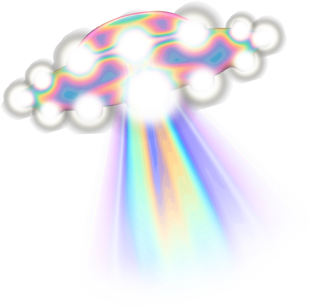 Ufo holo holographic tumblr. Spaceship clipart rainbow