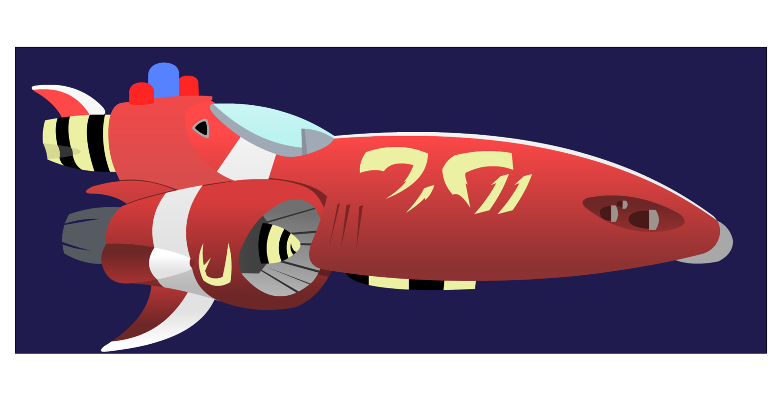 The red one by. Spaceship clipart random