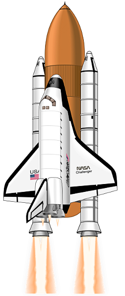 Spaceship clipart realistic. Collection of space shuttle