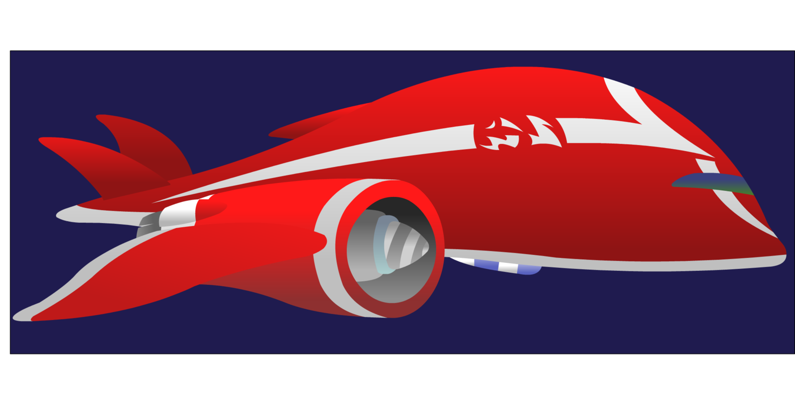 Image jumba s ship. Spaceship clipart red