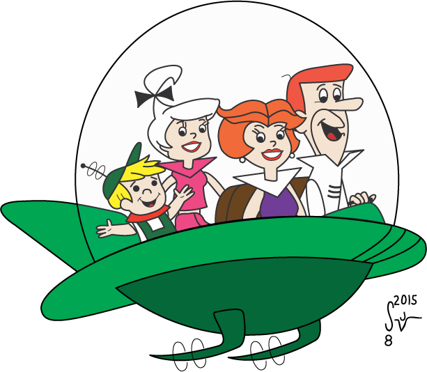 Jetsons take flight i. Spaceship clipart rescue