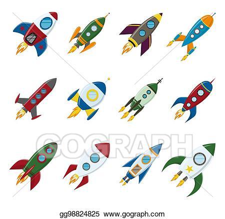 Drawn rocket x free. Spaceship clipart retro