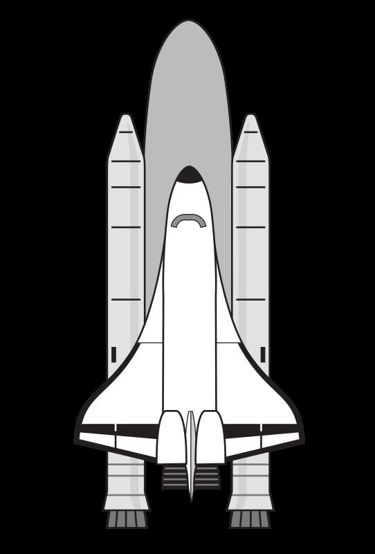 Spaceship clipart rocket booster. Nasa space shuttle medium