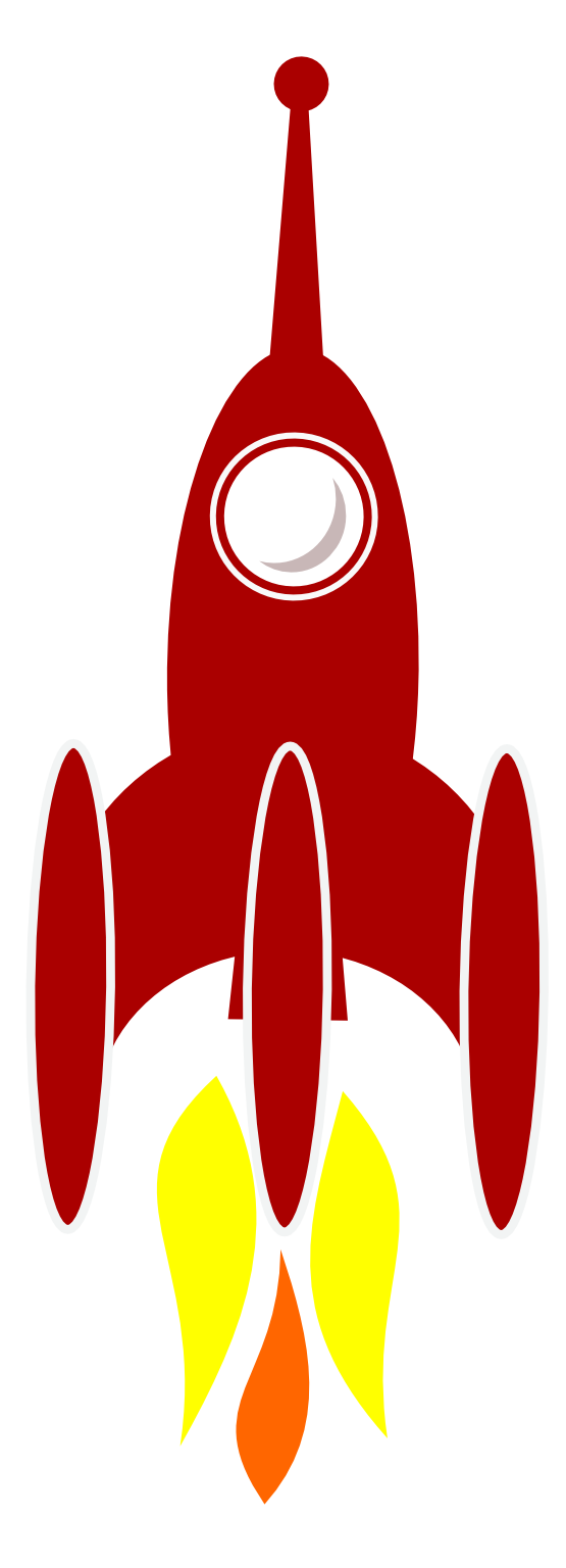 spaceship clipart rocket booster