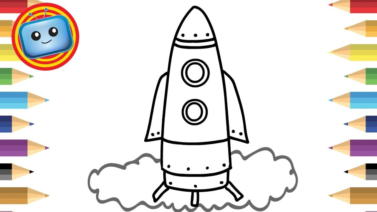 How to draw a. Spaceship clipart simple