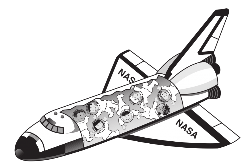 Shuttle with astronauts png. Spaceship clipart space exploration