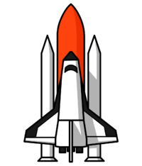 Spaceship clipart space exploration. Images of shuttle spacehero