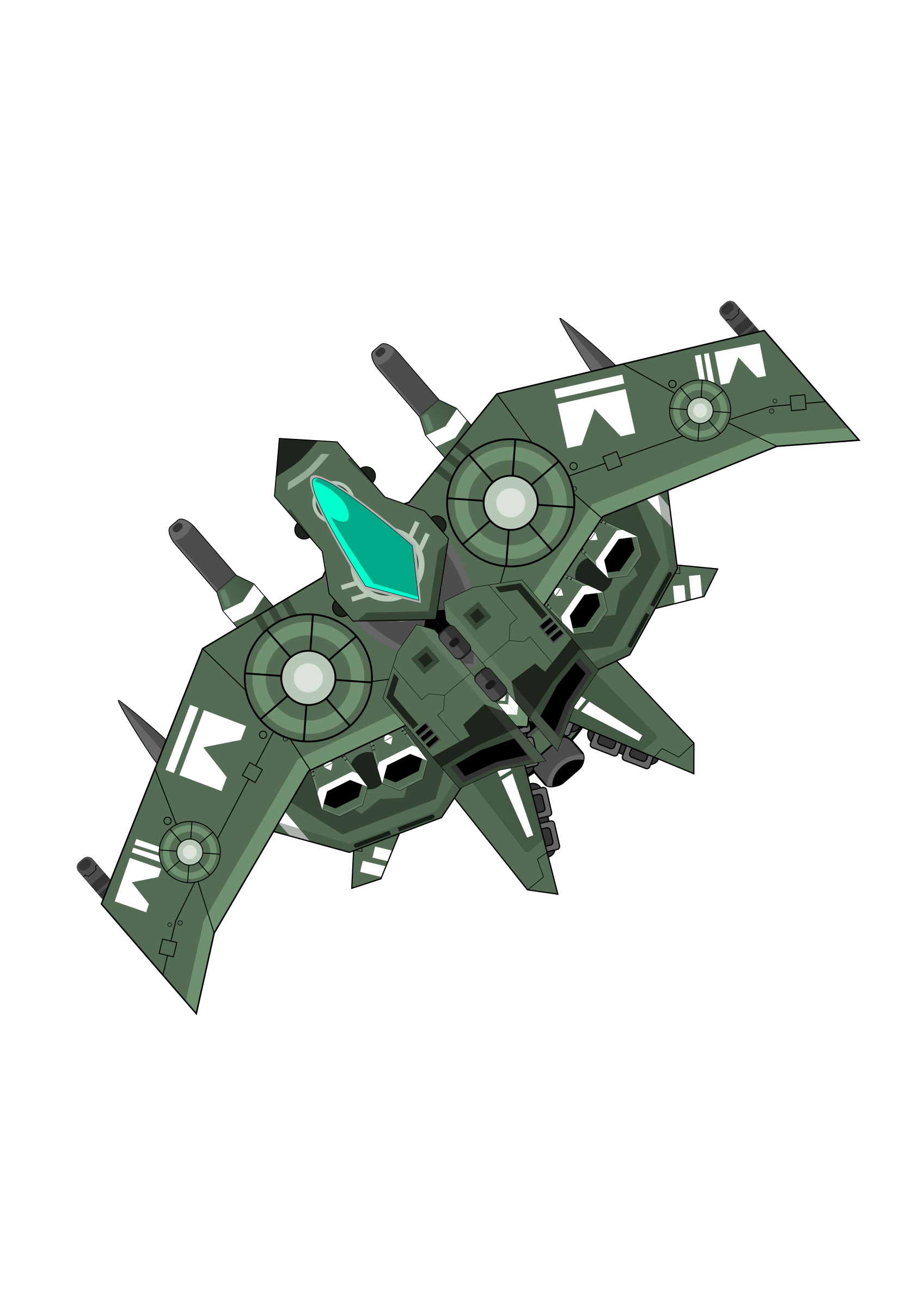 Green big image png. Spaceship clipart space fighter