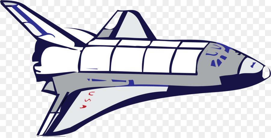 Blue background spacecraft illustration. Spaceship clipart space travel