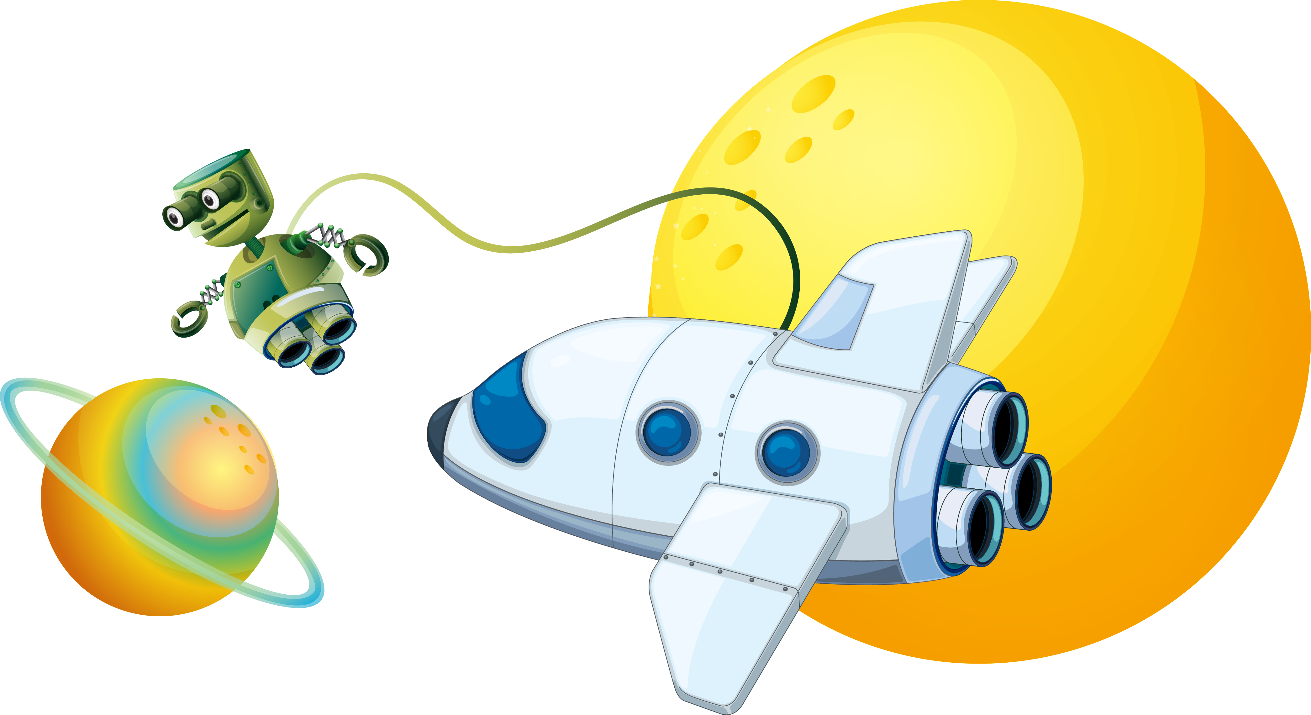 Spaceship clipart space travel. Illustration outer transprent png