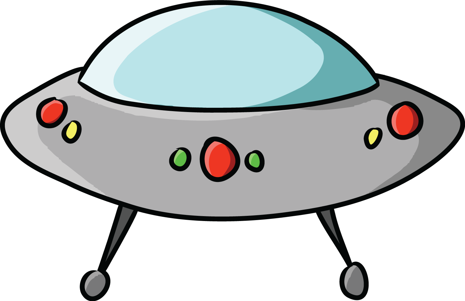 Spaceships the library rocks. Ufo clipart simple cartoon