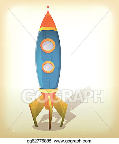 Eps vector retro stock. Spaceship clipart spaceship landing