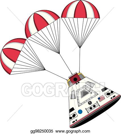 Spaceship clipart spaceship landing. Vector stock space capsule