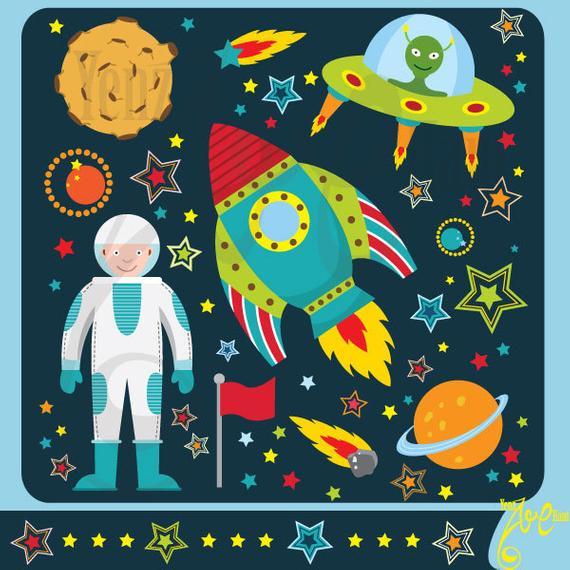Spaceship clipart star. Outer space clip art