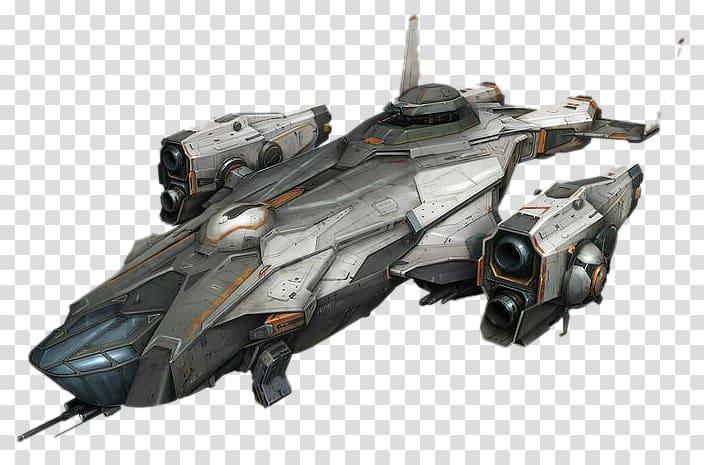 Gray illustration spacecraft concept. Spaceship clipart starship