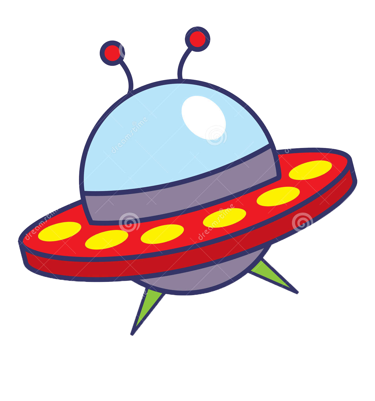 Cartoon spacecraft extraterrestrial life. Spaceship clipart starship