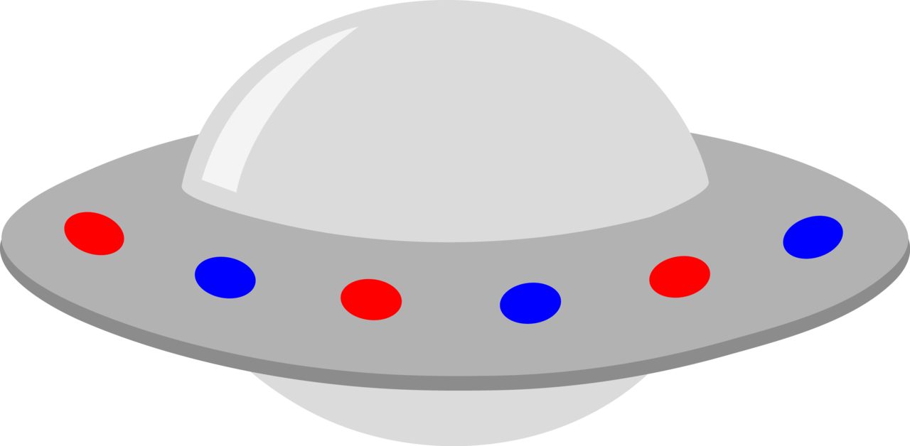 Image gray red blue. Ufo clipart comic