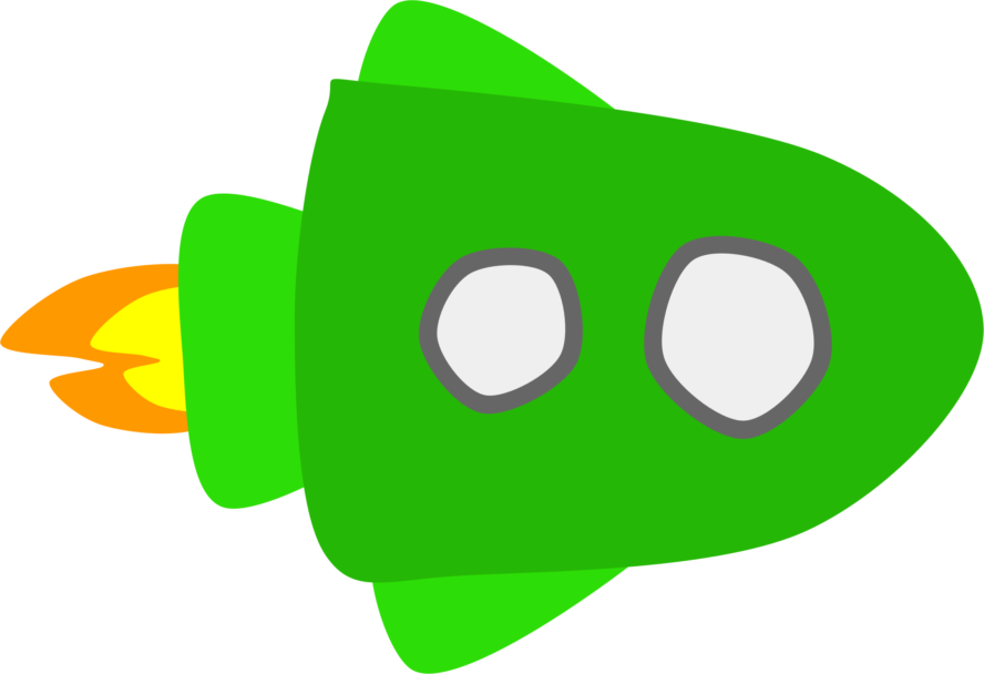 Green clipartpen . Spaceship clipart yellow