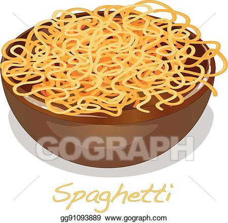 Spaghetti clipart full plate food. Clip art vector pasta