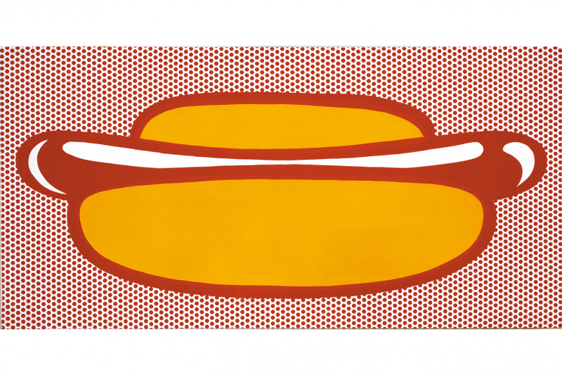 Spaghetti clipart pop art. Roy lichtenstein hot dog