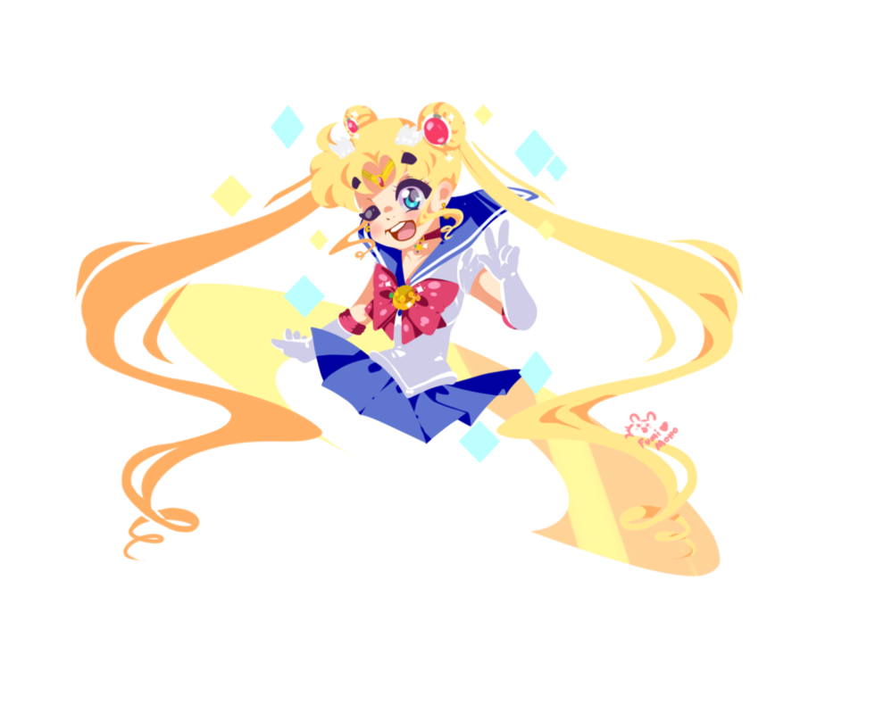 Sailor moon line less. Spaghetti clipart pop art