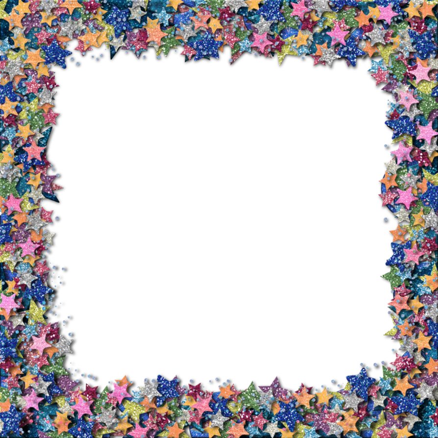 Sparkle border png. Glitter star by hggraphicdesigns