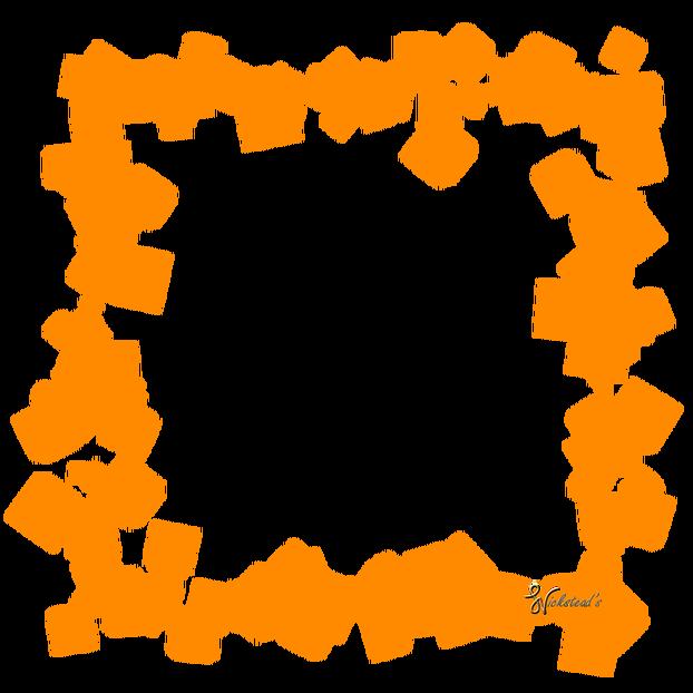 Sparkle border png. Orange frame hd mart
