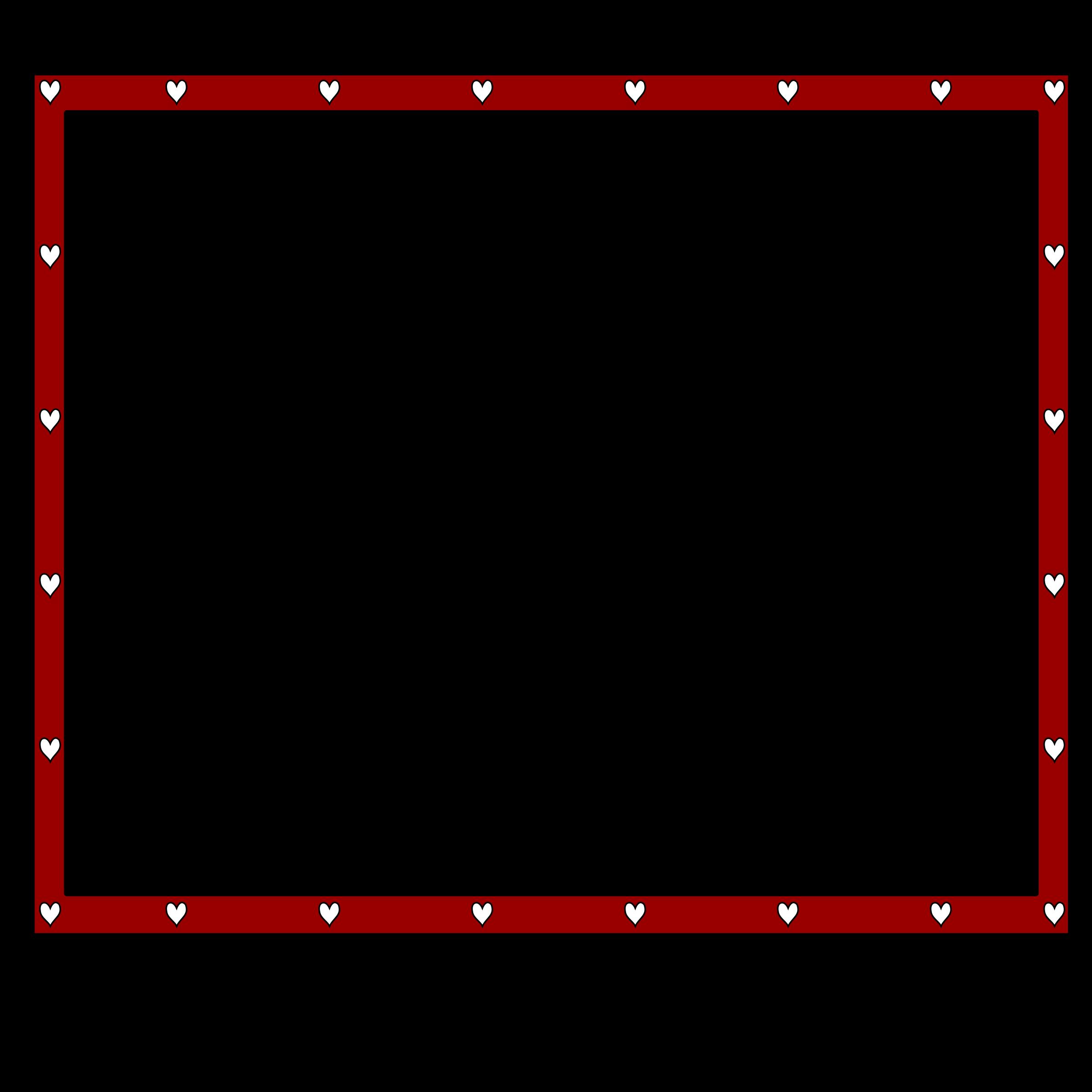 Sparkle clipart border. Redblack hearts x big