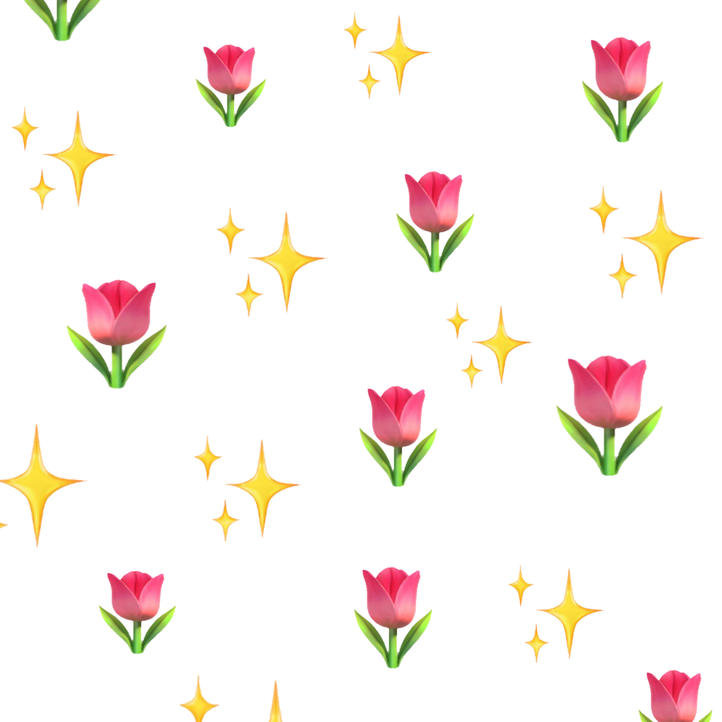 Emoji flower png. Flowers sparkle shine emojis