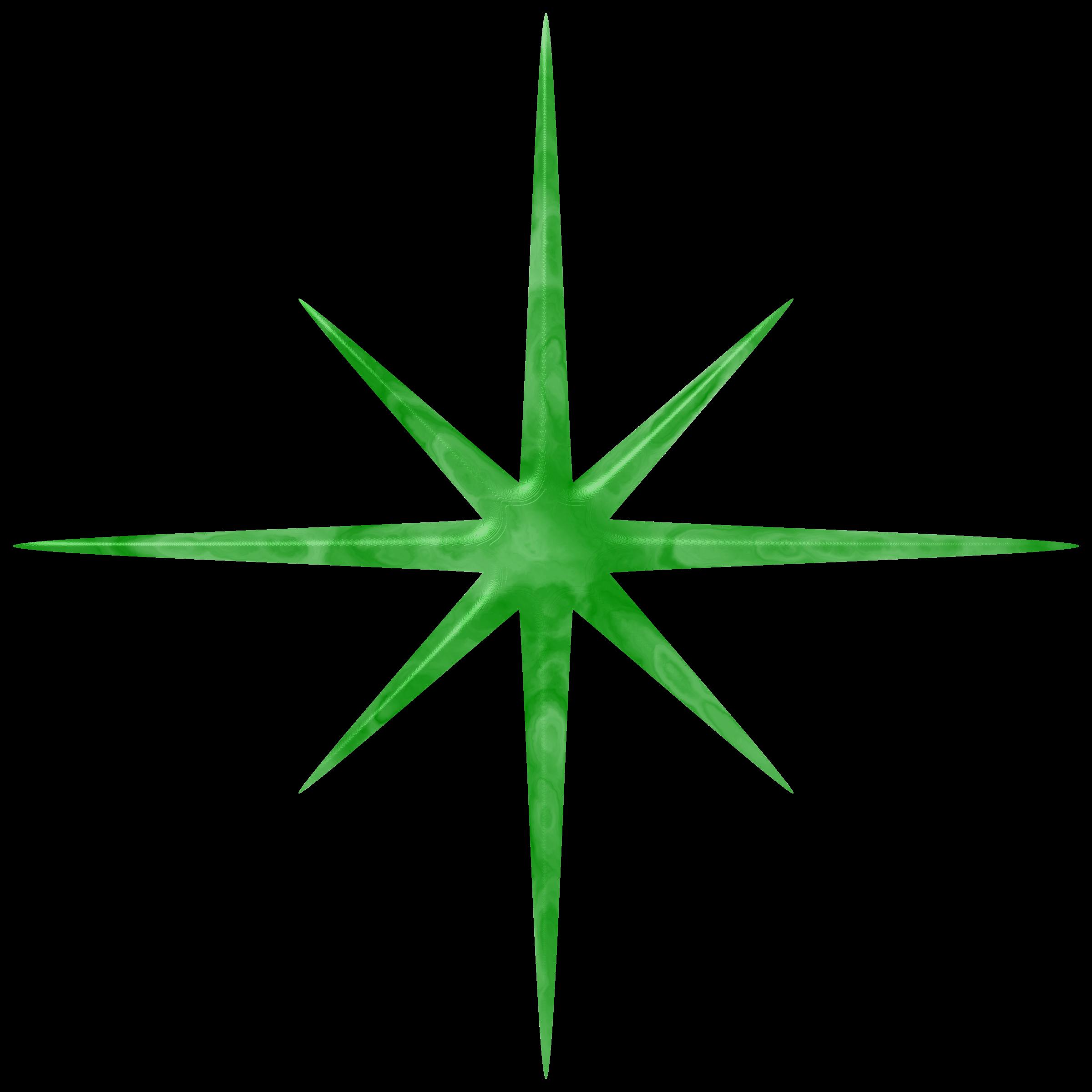 Jade star big image. Sparkle clipart green