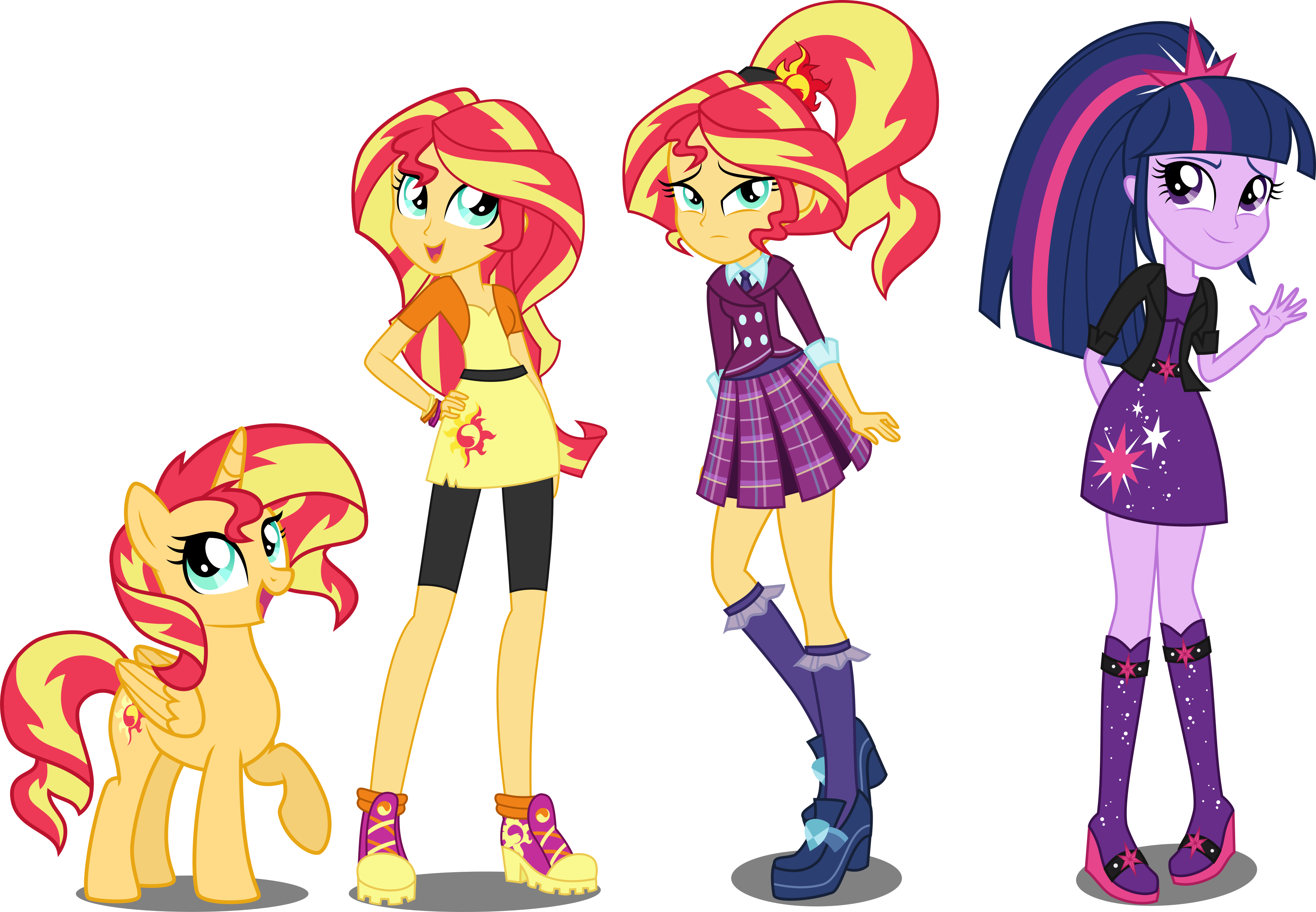 Sunset clipart cowboy sunset. Eqg au shimmer and