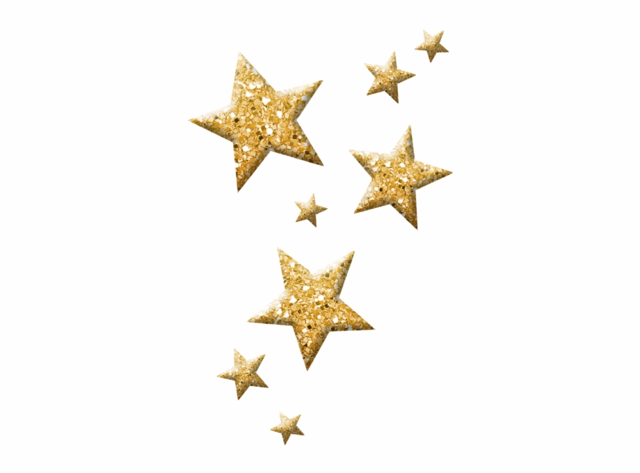 Sparkle clipart star wars star. Glitter gold png stars