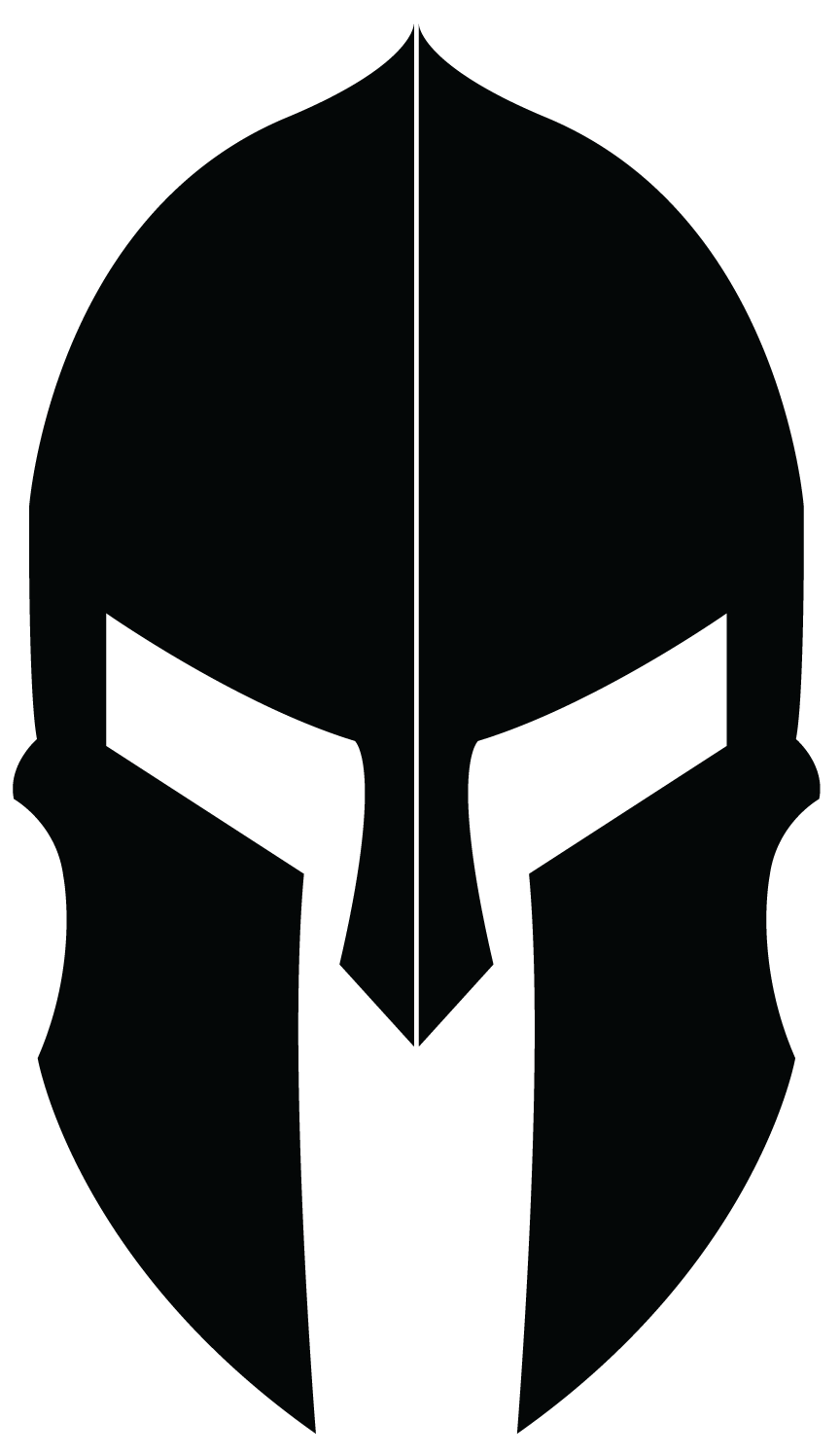 Logo design for spartan. Clipart gun helmet