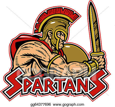 Vector art with shield. Spartan clipart